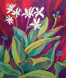 "Bluebead Lily Clintonia borealis8"" x 9.5"""